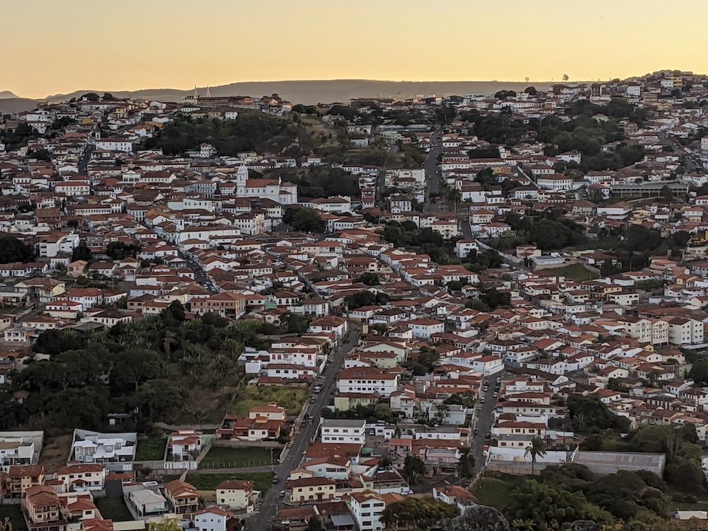 Pôr-do-sol no Cruzeiro da Serra Diamantina